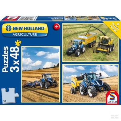 SCHMIDT 56214 Puzzle New Holland 3x48 dílků