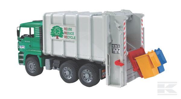 BRUDER 2764 MAN pro odvoz odpadků se záďovým nakladačem