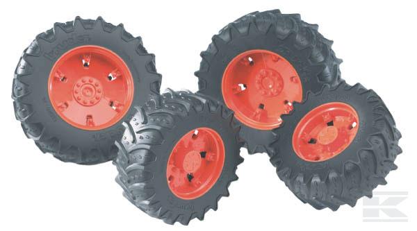 BRUDER 3302 Dvojitá kola oranžová pro sérii 03000