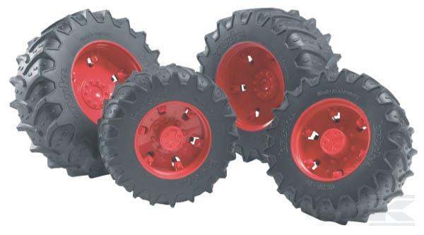 BRUDER 3313 Dvojitá kola červená pro sérii 03000