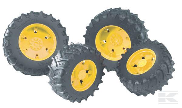BRUDER 3314 Dvojitá kola žlutá pro sérii 03000