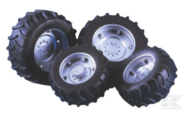 BRUDER 2316 Dvojitá kola stříbrná pro sérii 02000