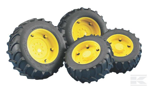 BRUDER 2321 Dvojitá kola žlutá pro sérii 02000