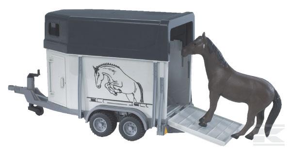 BRUDER 2028 Přepravní vůz pro koně včetně jednoho koně