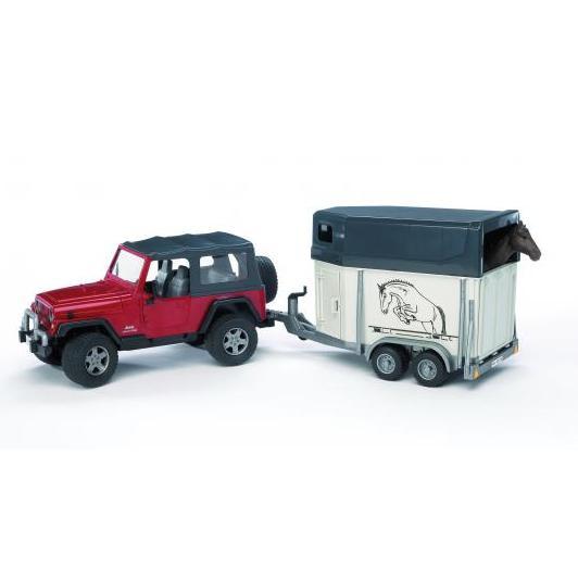 BRUDER 2921 Jeep Wrangler s přívěsem na koně