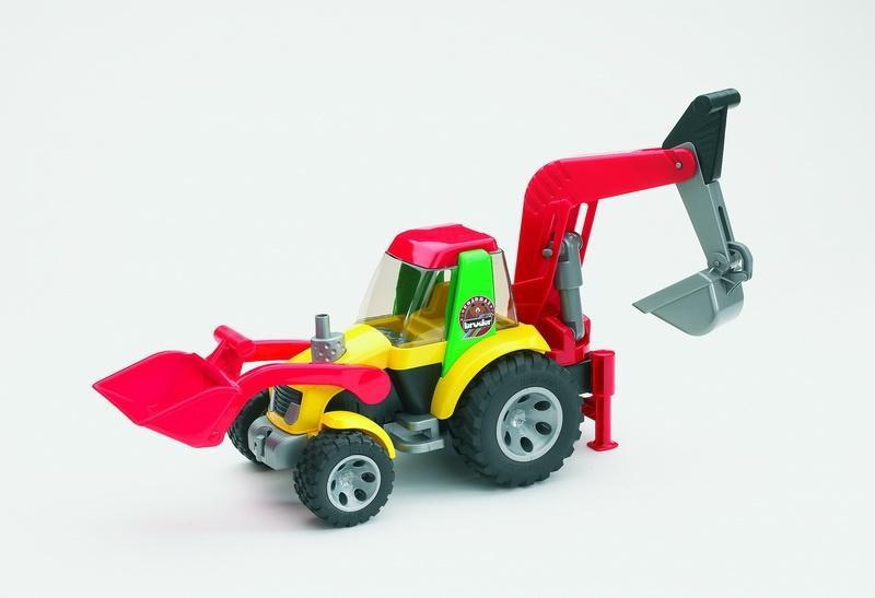 BRUDER 20105 ROADMAX Traktor nakladač se zadní lžící