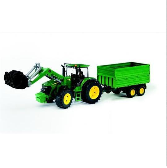 BRUDER 3055 Traktor John Deere 7930 s vlekem