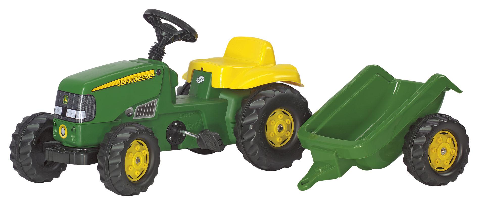 ROLLY TOYS 012190 Šlapací traktor rollyKid John Deere s vlekem