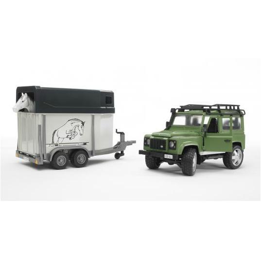 BRUDER 2592 Land Rover Defender s přívěsem na koně