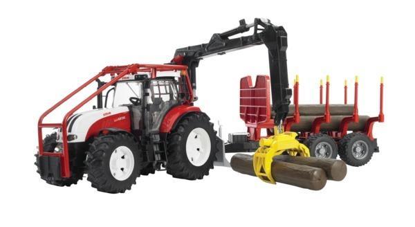 BRUDER 3093 Lesní traktor Steyr 6230 s přepravníkem na dřevo