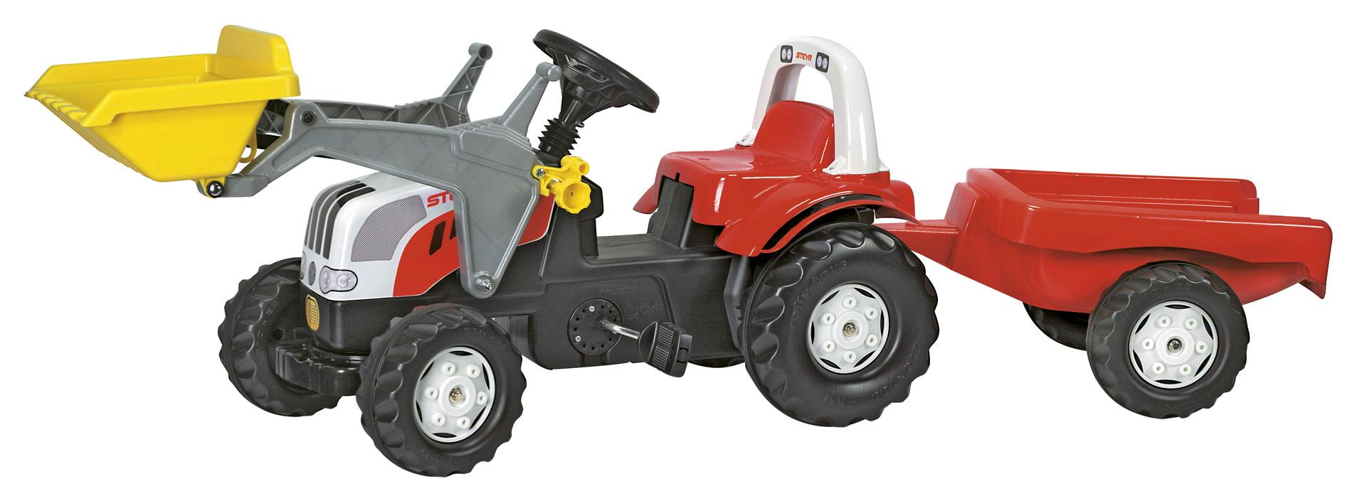 ROLLY TOYS 023936 Šlapací traktor rollyKid Steyr CVT 6190 s nakladačem a vlekem