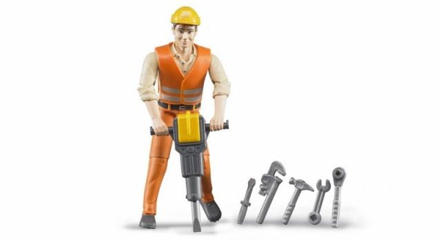BRUDER 60020 B-world figurka stavební dělník