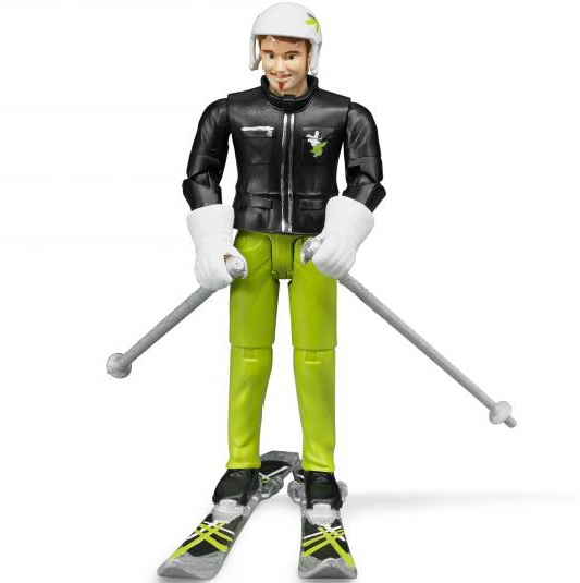 BRUDER 60040 Bworld figurka lyžař