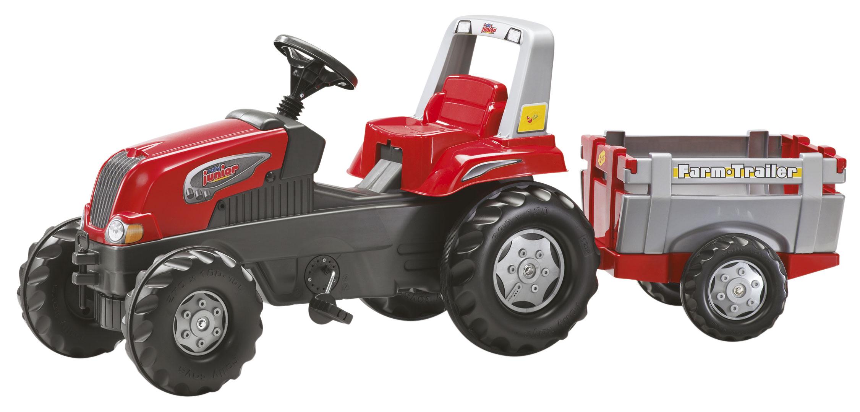 ROLLY TOYS 800261 Šlapací traktor rollyJunior RT s vlekem