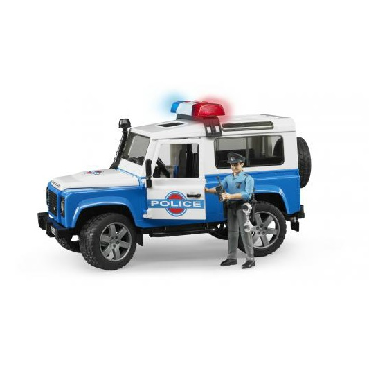 BRUDER 2595 Land Rover Defender policejní auto s policistou