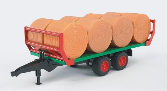 BRUDER 2220 Přívěs pro přepravu balíků včetně 8 balíků