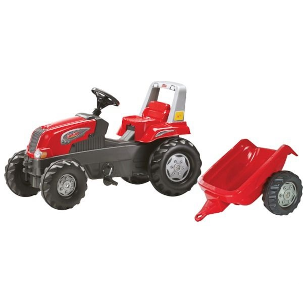 ROLLY TOYS 800315 Šlapací traktor rollyJunior s vlekem