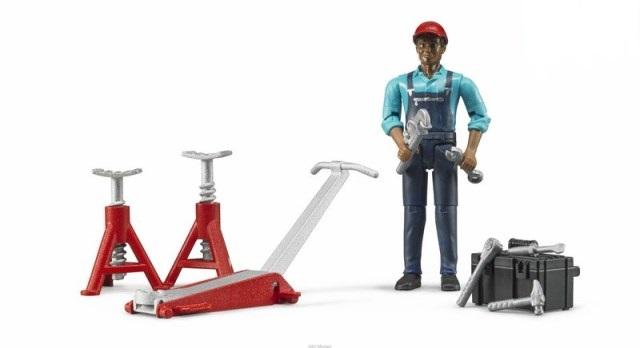 BRUDER 62100 Bworld figurka mechanik s nářadím