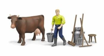 BRUDER 62605 Bworld zemědělský set, figurka