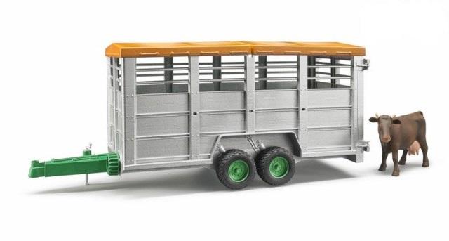 BRUDER 02227 Přepravní vůz na dobytek s figurkou krávy