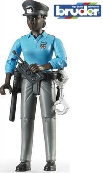 BRUDER 60431 Bworld figurka policistka tmavé pleti s příslušenstvím