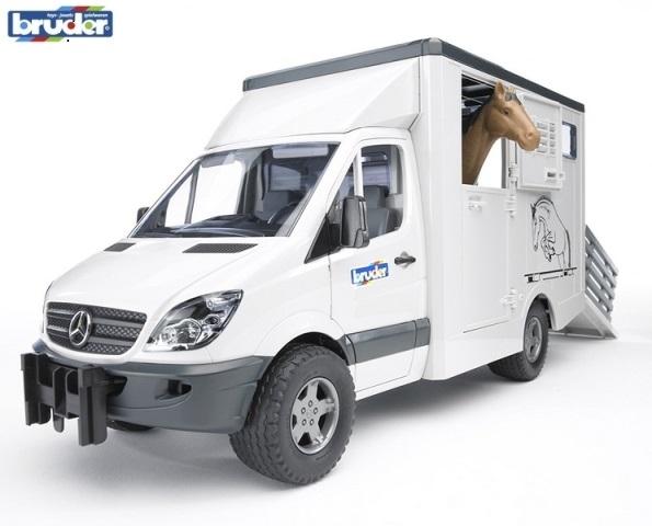 BRUDER 2533 MB Sprinter transportér zvířat včetně 1 koně